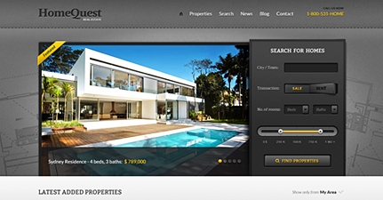 HomeQuest Real Estate WordPress Theme