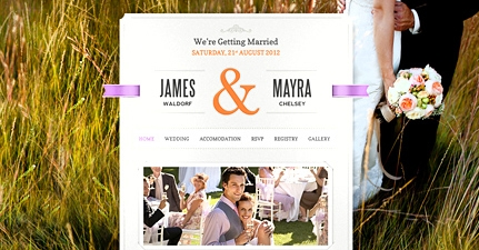 Just Married Wedding WordPress Theme