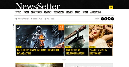 Newssetter News WordPress Theme