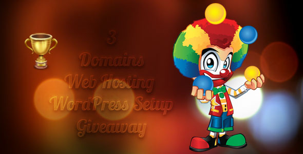 3 web hosting accounts 3 domains and 3 free wordpress setup giveaway contest